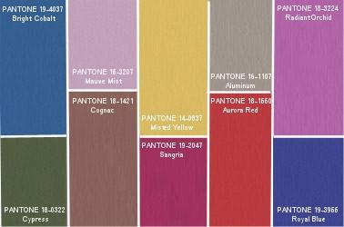 Pantonova paleta boja za jesen 2014