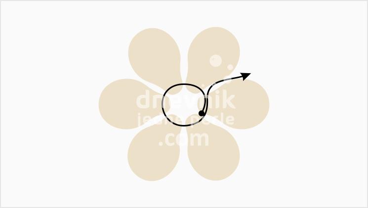 mindjuse u obliku cveta korak 1